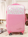 Polka dot20 24 trolley luggage pink universal wheels female 28 travel bag luggage lock,abs pink universal wheel luggage sets