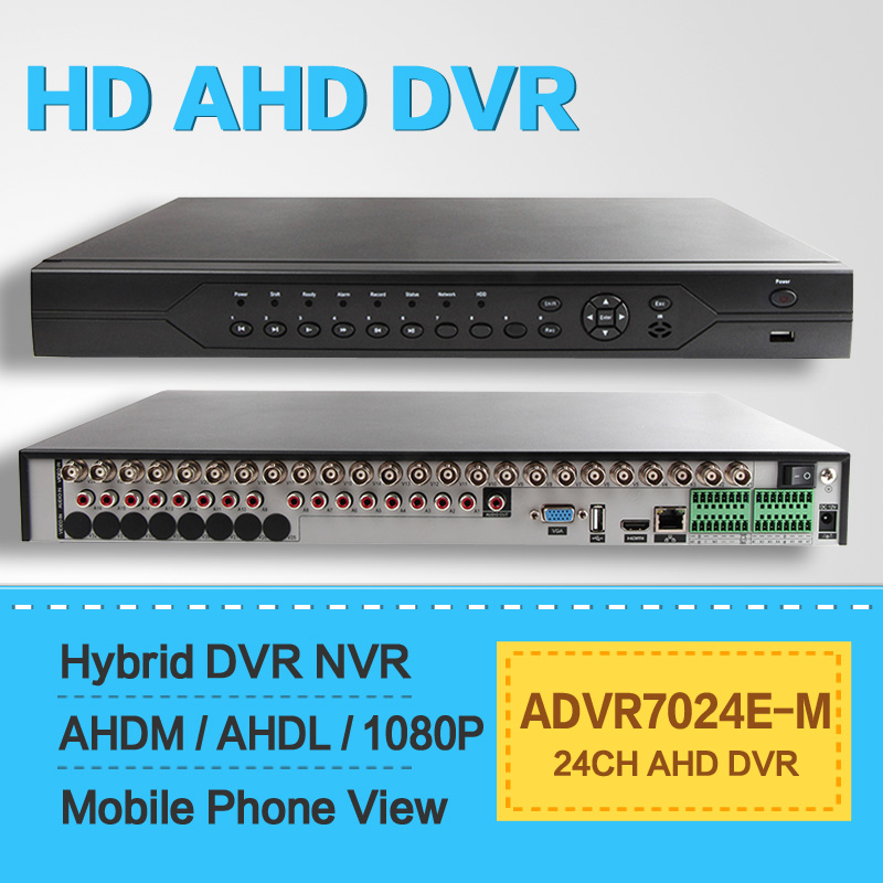 Hybrid CCTV font b Security b font 24CH AHD DVR 70P Realtime Digital Video Recorder AHDM