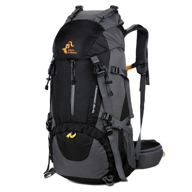Free Knight Large Capacity Camping Hiking Backpacks 50L Climbing Bag with Rain Cover Nylon Travel Outdoor Sports Bag Unisex