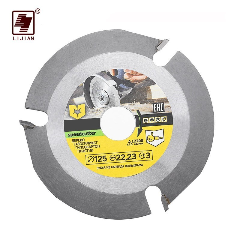 115/125mm 3 Teeth Circular Saw Blade Multitool Disc Carbide Tipped Wood Cutting Machine Electric Grinder Power Tool Accessories