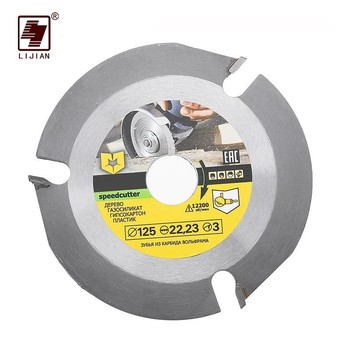 цена на 115/125mm 3 Teeth Circular Saw Blade Multitool Disc Carbide Tipped Wood Cutting Machine Electric Grinder Power Tool Accessories