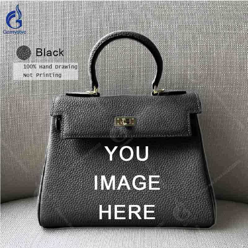 ... Gamystye Brand New Original Design Handbag Vintage Women Cow Leather  Shoulder Bag Togo Leather Messenger Bag c11e5b55f9a97