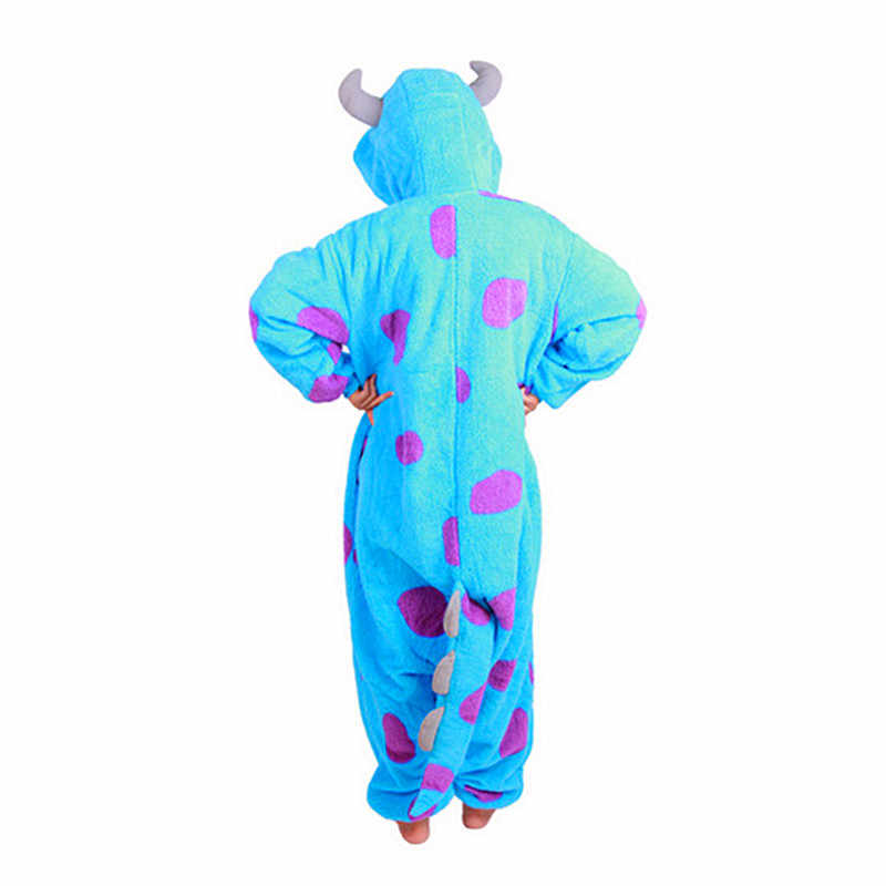 Canavarlar Üniversitesi James P. Sullivan Onesies Pijama Tulum Hoodies Yetişkinler Cosplay Kigurumi Kostümleri