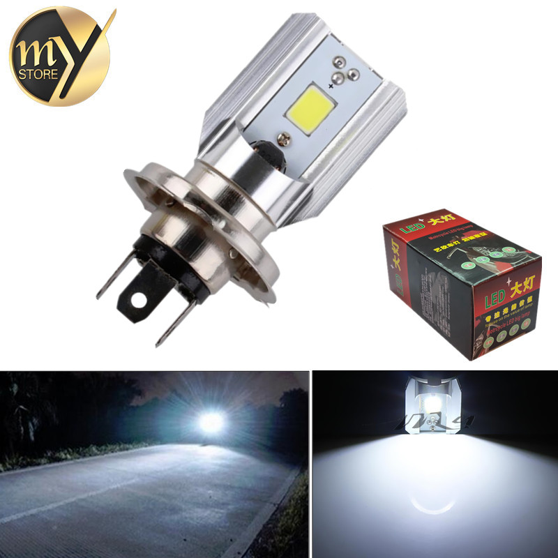 H4 Led Motorcycle Headlight Bulbs COB Led 12-36V 1000LM H/L Lamp Scooter ATV Moto Accessories Fog Lights 6000K Xenon White