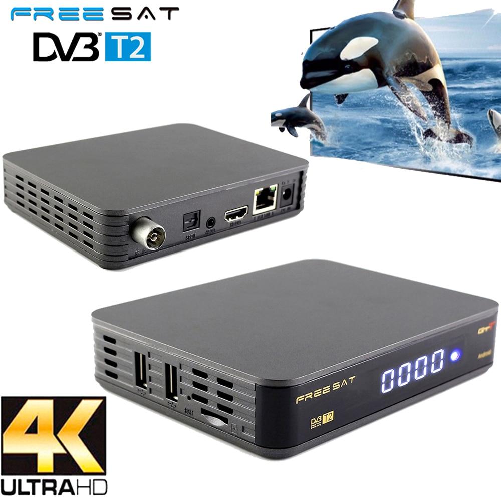 smart Android 6.0 TV BOX GTT DVB-T/T2/Cable Amlogic S905D 1GB RAM 8GB ROM with wifi DVB-T2 Signal Receiver Set Top Box dvb t2 dvb tv receiver w remote controller black