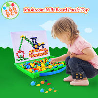 296pcs Mushroom Nail Beads 3D Puzzles Toys Set For Kids Gifts Children Early Educational Game Toy