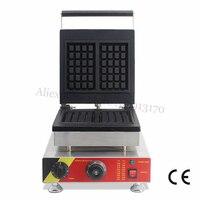 Retângulo comercial Aço Inoxidável Máquina de Waffle Belga Waffle Baker Criador 220 v 110 v Marca New