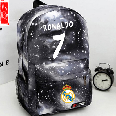 d5e3bda9e Free Shipping Ronaldo 7 Bag Football Soccer Backpack Boy Girl Outdoor  Sports Fans School Student Book Travel Bag