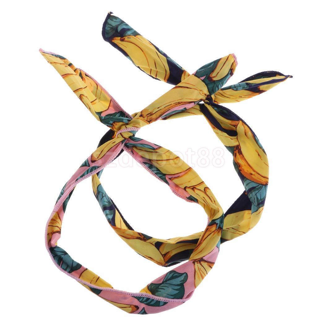 6pcs Womens Colorful Flexible Cotton Headbands Twist Hair Band Head Wrap Banana/Lemon ...
