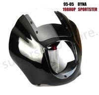 Motorcycle Quarter Fairing Viisor For Harley 1988 Later XL 1986 1994 FXR 1995 2005 Dyna FXD