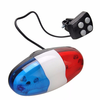 Multifunctional Cycling 6 LED Bike Police Front Light Warning Cycling Electric H
