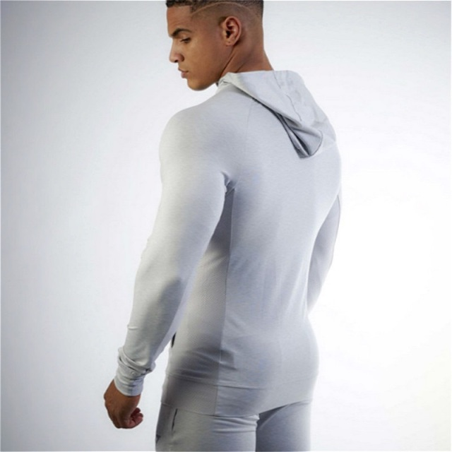 Men's Hooded Sports Jacket for Fitness and Workout
