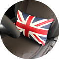 1pc car red union jack seat lumbar support back pillow for mini cooper R50 R52 R53 R55 R56 R60 F55 F56 F54