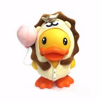 16cm Anime Duck Figure Duck Doll Toys PVC Vinyl Money Box Cute Piggy Bank Home Decor Best Gifts for Kids Semk Duck Toys