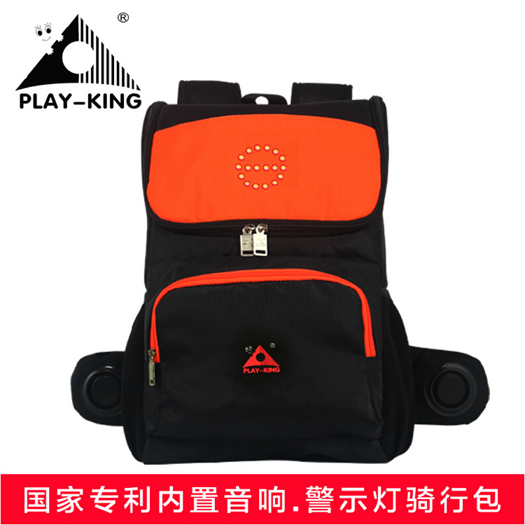 Playking indicating light backpack bicycle mountain bike bag bag of men and women Backpack Bag orange & green quality innovation bicycle infantry pack 14 6 inch waterproof and scratch resistant outdoor leisure men and women bike backpack