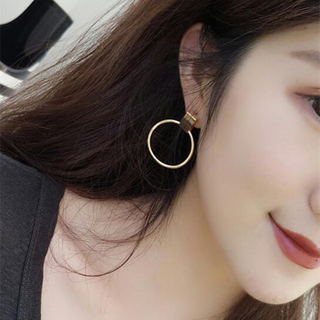 E0260 Fashion Jewelry Gold Silver Color Big Hoop Earrings Exquisite Round Circle