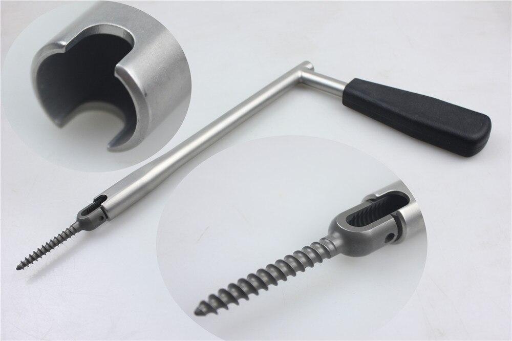 Медицинская ортопедическая аппаратура позвоночника, поясничный позвонок, предотвращающий вращение Рукава U Тип 5,5, держатель винта для педикюра - 6
