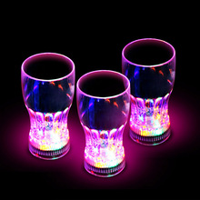 Bar Party Decor LED Glowing Plastic Cups Fashing Drink Luminous Lights Cup TB Sale