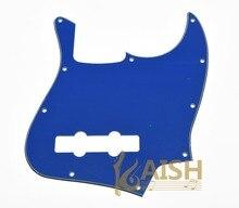 USA Spec Standard Jazz J Bass Pickguard Scrach Plate Blue 3 Ply Fits  for Fender