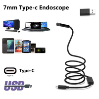 Hard Cable Type C Android USB Endoscop Camera 7mm Type C Endoscopio PC Android Phone Borescope