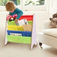 4 Tiers Wood Shoes Rack Shelves Holder Storage Home OrganizerMulti Color Pocket Bookshelf Children Furniture Bookcase