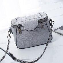 Pequeño Cocodrilo de Las Mujeres Bolsos de Cuero de la Marca Famosa Bolsa de Hombro Retro Bolsos Crossbody Añadas Flap Messenger Bag 2017 de Verano