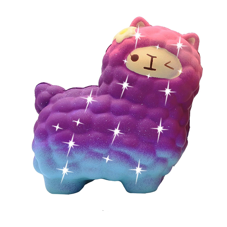 Купить с кэшбэком jumbo sheep alpaca squishy cute galaxy slow rising animal squishy squish wholesale exquisite kids gift