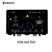 IOKONE 2 Din автомобильный DVD gps плеер andriod 8,0 автомобилей 9 дюймов ips 2.5D стерео радио 8 CORE подходит KIA рио 2017 2018 навигации Авторадио
