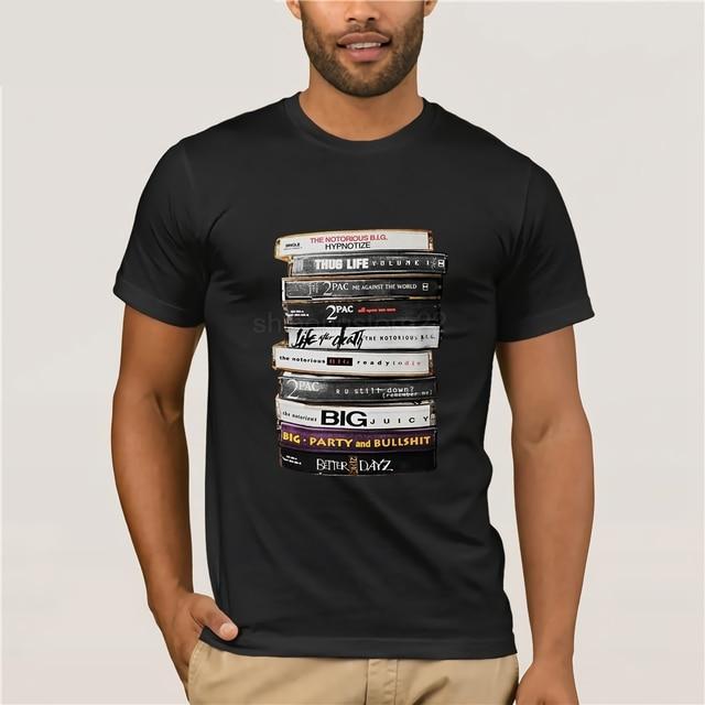 c04d2708 2019 Fashion 100% Cotton Slim Fit Top Short Sleeve Hipster Tees Biggie 2Pac  Tapes Notorious Big Tupac Hip Hop Rap Legend T Shirt