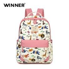 Победитель Прекрасные животные принты рюкзак холст женщины рюкзак мешок школы для подростка Дамы Девушка Back Pack Рюкзак Mochila