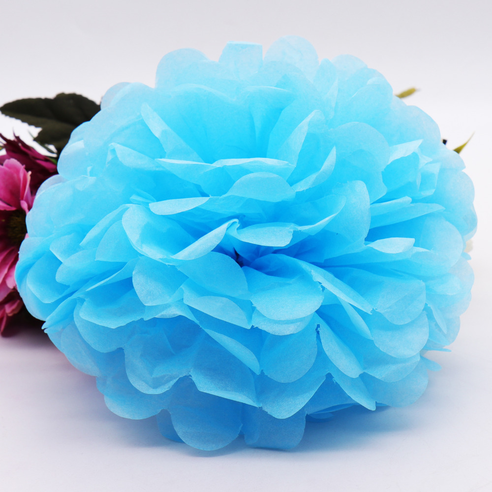 5pcs 25cm Tissue Paper Pom Poms Paper Flower Ball Handmade Flower For DIY Home Garden Wedding Birthday&Wedding Decoration 10