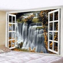 Красивый Деревянный гобелен с изображением водопада большие