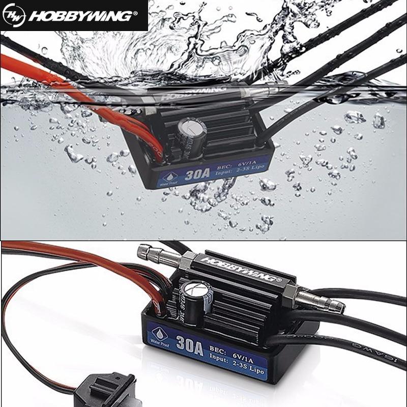 Hobbywing SeaKing 30A/60A/120A/180A V3 Brushless ESC RC moteur ESC 6 V/1A/2A/5A BEC untuk RC Bateau de vitesse Électronique contrôleur