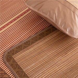 Image 4 - 100 natural bamboo mats, summer gives you a cool feeling  folding wrapping 0.9/1.2/1.5/1.8 /2 m bamboo mat