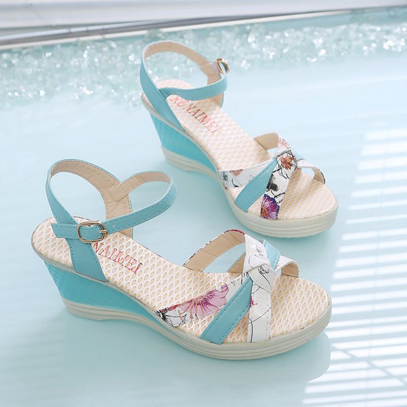 HTB1NnQDbojrK1RkHFNRq6ySvpXah New Summer Fashion Women Sandals Ladies High Heel Platform Open Toes Women Sandals Shoes Women's Platfroms Casual Wedges Sandals