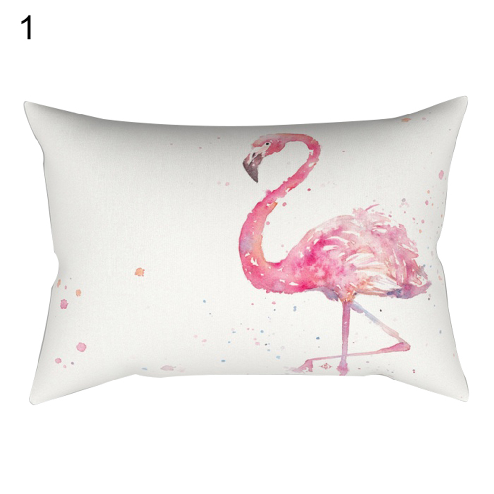 30x50cm Pillowcase Pillow Cushion Case Cover Flamingo Design