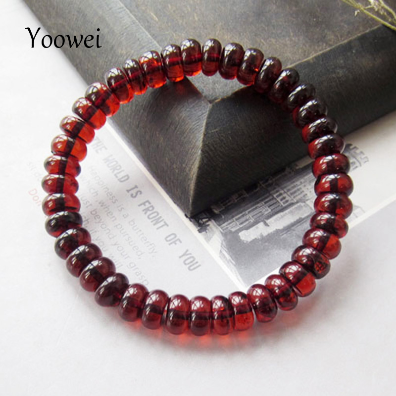 Yoowei New Amber Bracelets Natural Baltic Abacus Beads Wine Red Unique Gorgeous Luxurious Gift Genuine Amber Jewelry Wholesale denso 23250 28070