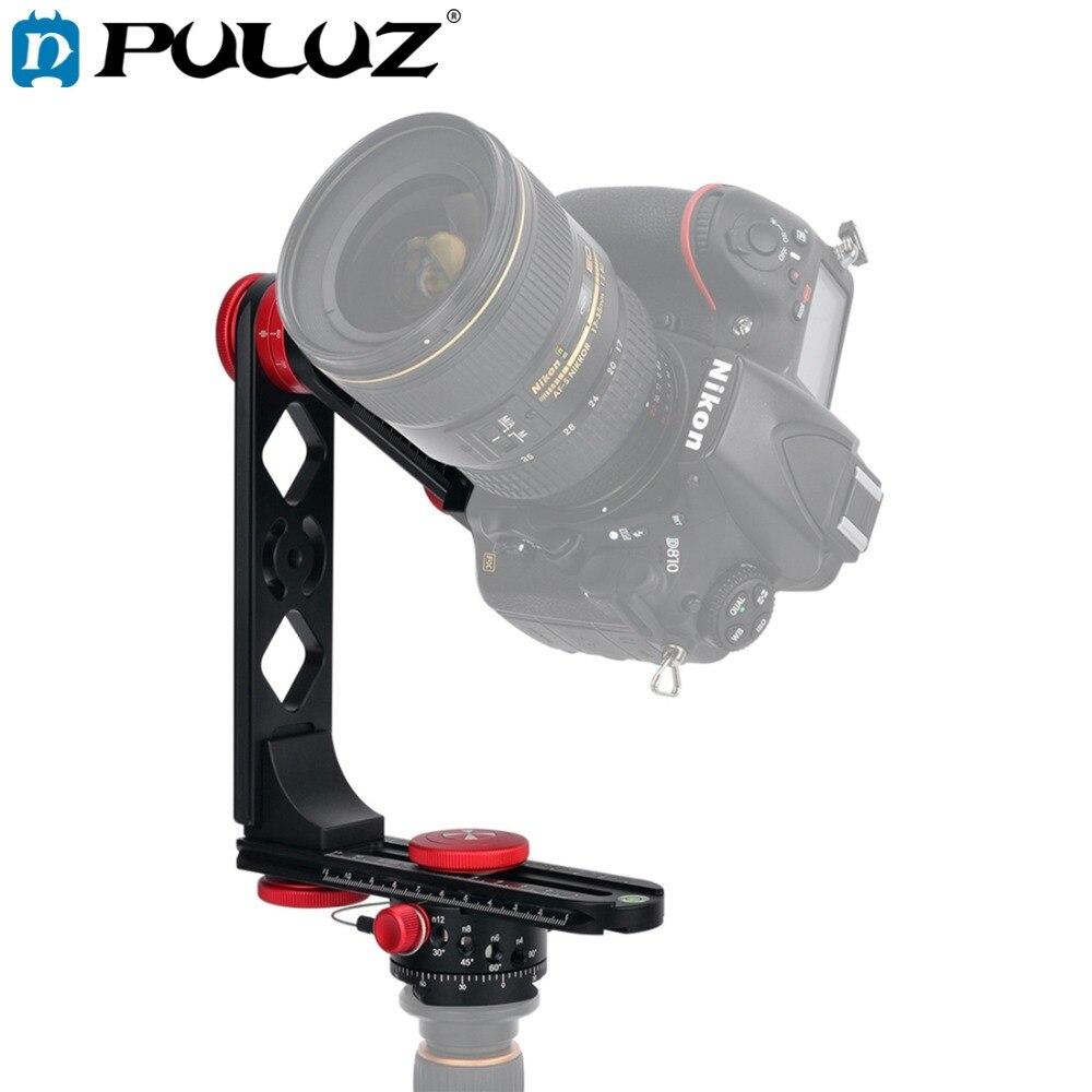 PULUZ 720 degrés caméra panoramique en alliage d'aluminium tête à bille trépied kits & 3/8 plaque de dégagement rapide & 1/4 ''vis plaque fixe pour DSLR