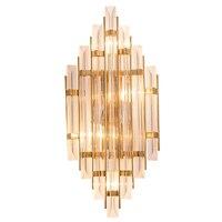 Новые Классические стены лампы Nordic хрусталь бра коридор Золото роскошные украшения E14 светодиодные лампы, настенные свет