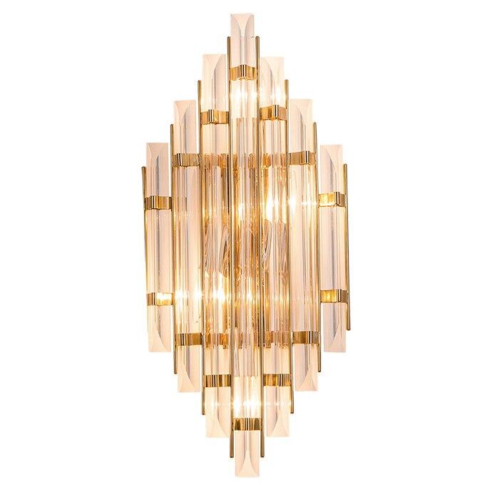 Nouveau classique lampes murales nordique cristal verre applique murale lampe couloir or luxe décoration E14 LED ampoule murale lumière
