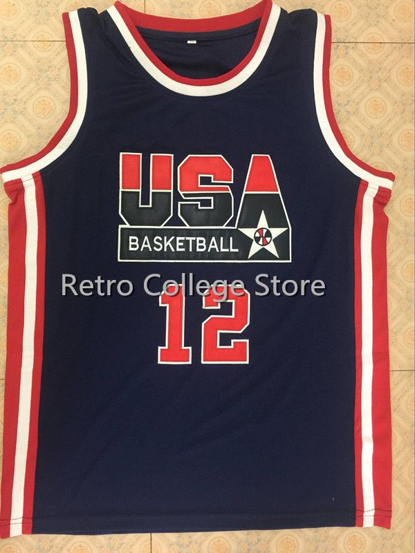 14 Charles Barkley 12 John Stockton 7 Shawn Kemp 15 Magic Johnson 1992 USA Olympic Dream Team Jersey Men's Basketball jersey цены