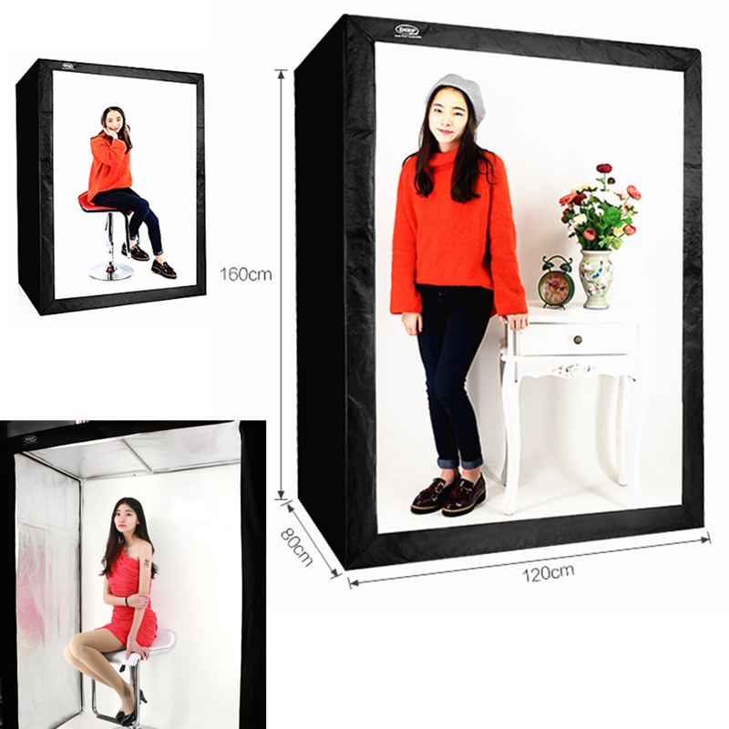 160cm 5.25ft Photo Tent Tabletop Shooting LED Lighting Softbox Studio Box for Children Kid Clothes Guitar Doll Small Furniture puluz 40 40cm 16light photo studio box mini photo studio photograghy softbox led photo lighting studio shooting tent box kit