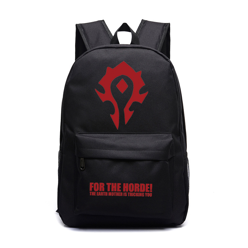 New FVIP WOW For The Horde World Of Warcraft Backpack School Bags Luminous Laptop Backpacks Tribe Alliance Nylon Mochila Galaxia бинокль veber 8x25 wp желто черный
