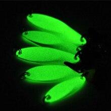 10PCS Night Fishing Bass Fishing Glow Spoons Bait Luminous Spoon Lures with Treble Hook 5g 7g 10g 14g 21g Wholesale / Retail