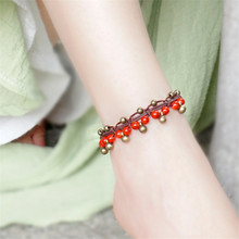 women anklet 2016 new accessories DIY weave 3 colors hot sell copper alloy foot rope jewelry wholesale anklets bracelet BT05