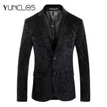 YUNCLOS Autumn Blazer for Men Slim Fit Male Wedding Party Suit Jackets Casual Jacquard Mens Blazer Jackets blazer masculino