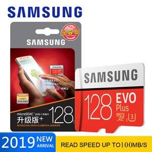 Samsung evo plus cartão micro sd 64gb 128gb, microsd 256 gb sdhc 32gb 16gb cartão de memória classe 10 cartão mini sd 16gb sdxc 4k, cartão vermelho