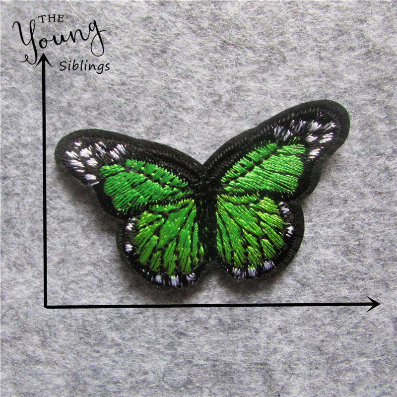 Cute Cartoon butterfly Patch Computer Embroidery Badges Hand Sewing Ironing Sticker On Cloth Garment Hat Bag Accessories