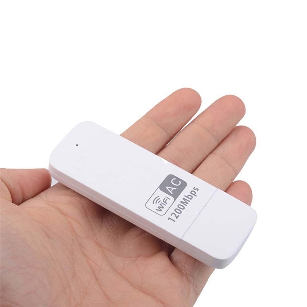 1200 M 2.4 Ghz/5 Ghz WiFi Récepteur Sans Fil-AC Double Bande USB 3.0 adaptateur avec WPS Clé Externe Carte Réseau LAN Dongle pour bureau