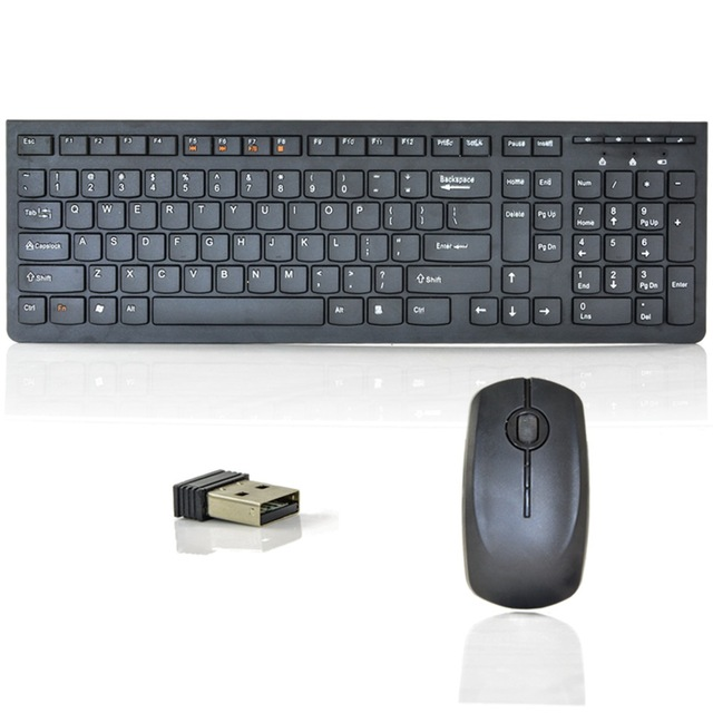 1fc30ef48b3 MAORONG TRADING Wireless keyboard and mouse kit chocolate ultra-thin set  combo for lenovo desktop